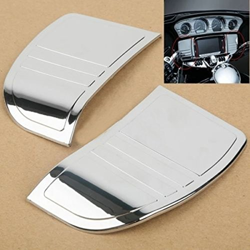Price comparison product image Chrome Deluxe Tri Line Stereo Trim Cover for Harley Touring Models 2014-2016 New