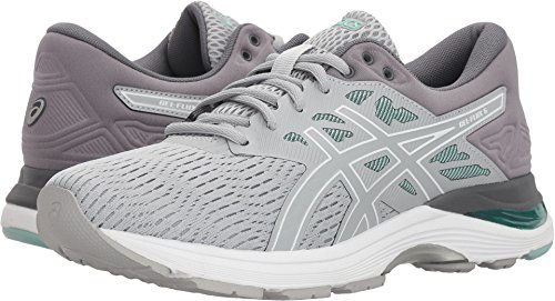 - ASICS Women's, Gel Flux 5 Running Shoes Wide D Width Grey Green 8.5 D