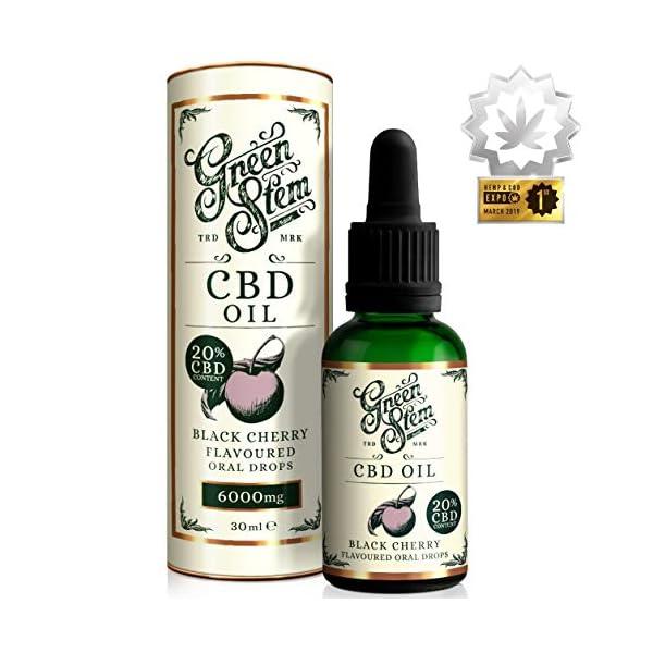 Green Stem Black Cherry CBD Oil 6000mg