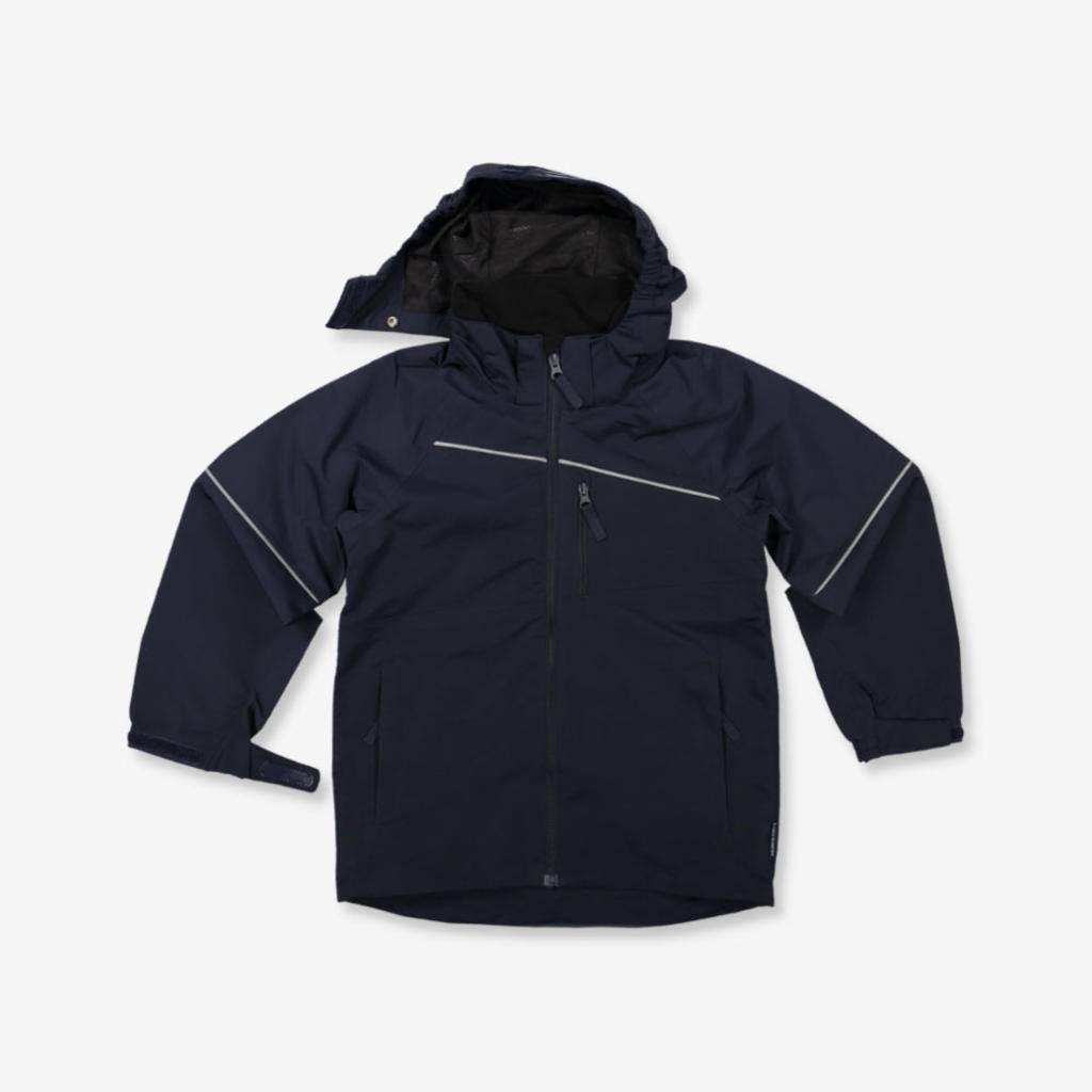 POLARN O. PYRET SHELL JACKET (6-12YRS) - Dark Sapphire/7-8 years by Polarn O. Pyret