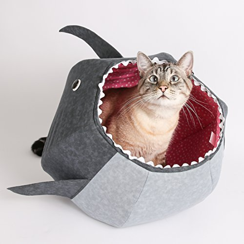 Great White Shark cat bed - The Cat Ball cat bed, a designer pet bed made in the USA