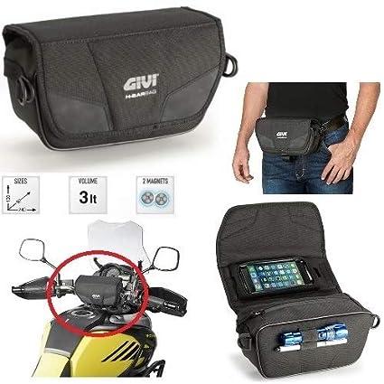 Bolso Porta navegador GPS Givi T516 para Moto Estuche o riñonera de Cintura con Correas Ajustables Desmontables Universal Negro 130 x 90 x 240: Amazon.es: Coche y moto