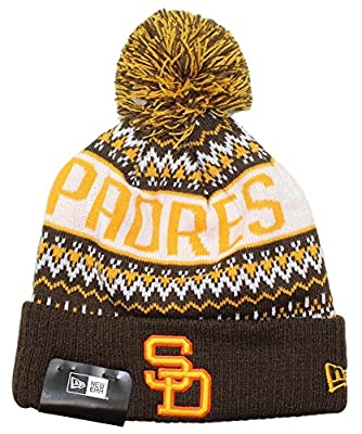 "San Diego Padres New Era MLB Cooperstown ""Wintry Pom"" Cuffed Knit Hat with Pom"