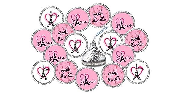 Amazon.com: 324 Paris Kisses Pegatinas Etiquetas, Torre ...
