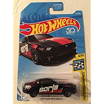 Hot Wheels 2018 50th Anniversary 2015 Ford Mustang GT 80/365, Black