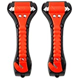 TAIKA 2pcs Car Safety Hammers, Emergency Escape Tools Hammers, Carbide Tips, Seat Belt Cutters, Window Punches, Car Glass Breakers, Rescue Survival Kit