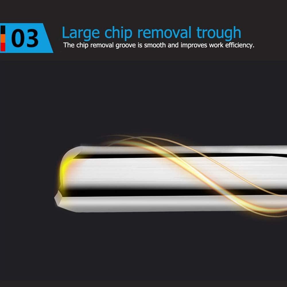 4x17mm Fresa a doppio taglio per frese diritte Fresa in acciaio al tungsteno Fresa a 2 taglienti Utensile da taglio a controllo numerico a 2 flauti