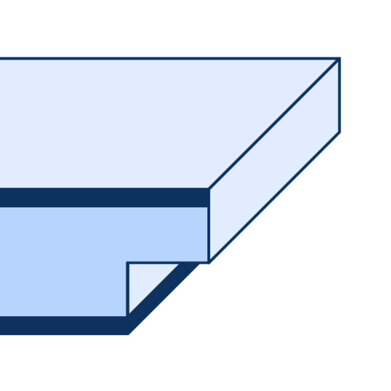 Breite und Wandst/ärke w/ählbar I DIN rechts I 1985 x 735 x 180 mm HORI/® Zimmert/ür Komplettset mit Zarge und T/ürdr/ücker I Innent/ür wei/ß lackiert mit 2 Querstreifen I H/öhe 198,5 cm I Anschlag
