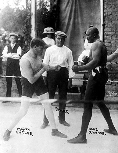 1910-15 Boxers Marty Cutler & Jack Johnson Vintage Photograph 8.5