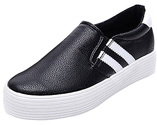 Women's Shoes Loafer Laruise Students' Black BwH7Tq
