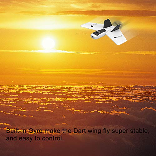 Hisoul ZOHD Dart Sweepforward Delta Wing Glider FPV EPP Racing Wing RC Airplane PNP (White) by Hisoul (Image #1)