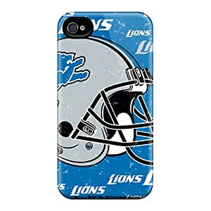 SherriFakhry Iphone 4/4s High Quality Hard Phone Covers Support Personal Customs Attractive Detroit Lions Skin [fmq14302OSIV]