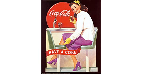 Amazon com: EuroGraphics Coca-Cola-Lady at Soda Counter