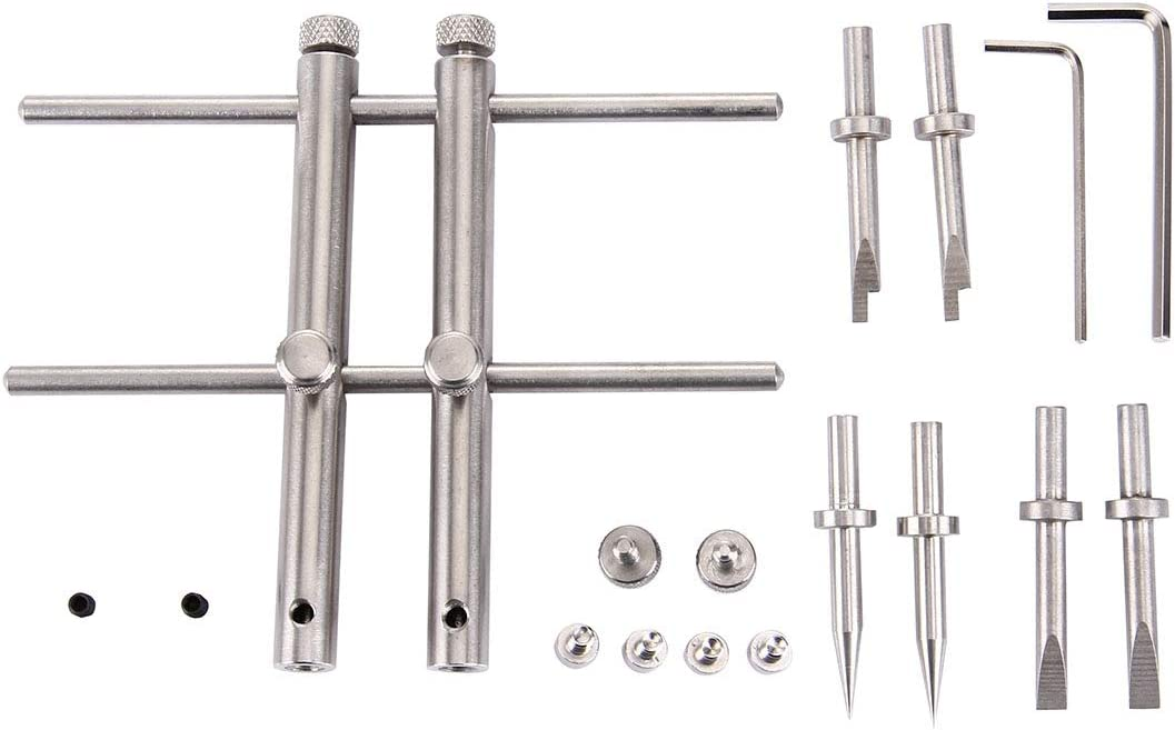 MEETBM ZIMO,LRT-03 Professional DSLR Camera Lens Stainless Steel Spanner Wrench Open Repair Tool Kit with 3 Pairs of Spare Head