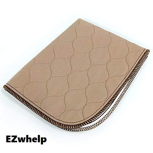 "EZwhelp 17"" x 20"" Machine Washable, Reusable Pee Pad/Quilted, Fast Absorbing Dog Whelping Pad/Waterproof Puppy Training Pad/Housebreaking Absorption Pads/Travel Size"
