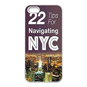 IPhone 5,5S Cases 22 Tips for Navigating New York, - [White] Jumphigh