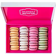 20 Macarons Gift Box - French Cookies - Baked Upon Order Macaroons with Recipe from France - Flavor Assortment - Gluten-free - Dairy-free - Nut-free