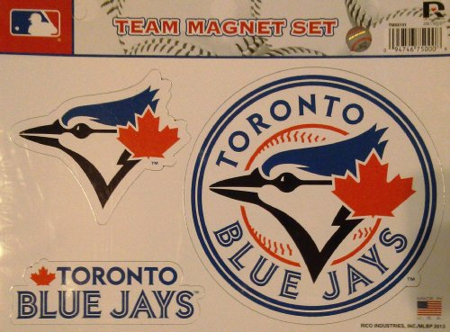 (Rico MLB Toronto Blue Jays Team Magnet Set)