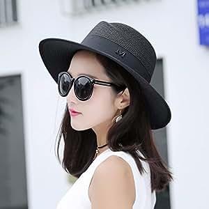 LOF-fei Mujer verano sombrero para el sol sombrero playa plegable ... 0b5f8f18989