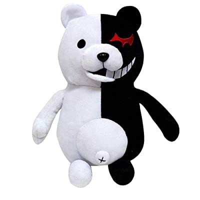 APRILALEX Kids Black White Bear Plush Doll Monokuma Bear 36cm for Kids Birthday Child Pillow Toy Home Decor Adornment(36cm): Kitchen & Dining [5Bkhe0402219]