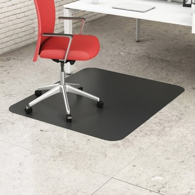 deflecto CM21242BLK EconoMat Anytime Use Chair Mat for Hard Floor 45 x 53 Black ()