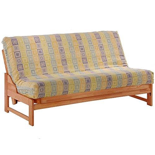 Night & Day Furniture Eureka Queen Futon Frame in Honey Oak Finish Honey Oak