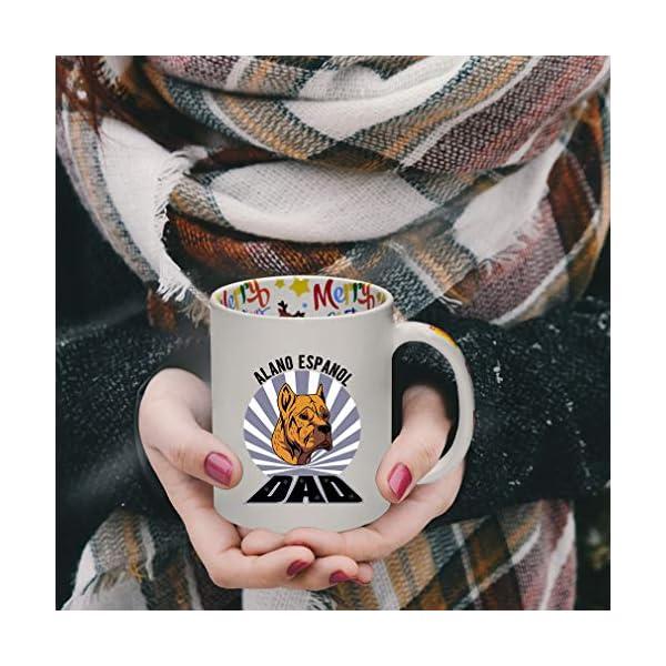 Ceramic Christmas Coffee Mug Dad Alano Espanol Dog Funny Tea Cup 4