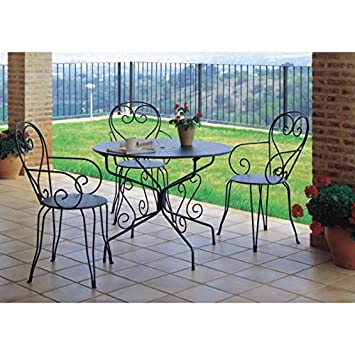 Romantic Wrought Iron Table For The Garden With A Centre