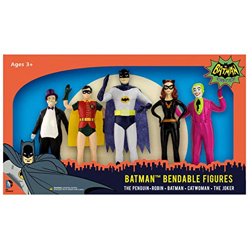 NJ Croce Batman Classic TV Series Bendable Boxed Set ()