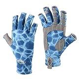 Palmyth UV Protection Fishing Fingerless Gloves UPF50+ Sun Gloves Men Women for Kayaking