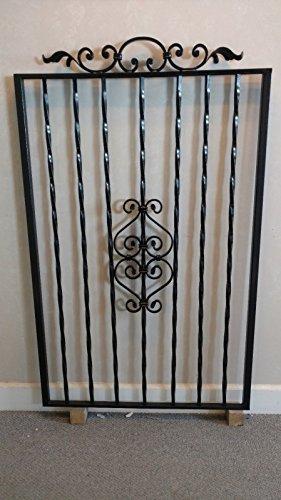 WROUGHT IRON STEEL ORNAMENTAL TWISTED GARDEN GATE - Wrought Iron Garden Gate