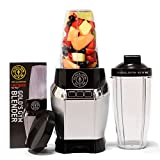 Golds Gym Personal Power Blender 1000 Watt for Healthy Shakes & Smoothies with Travel Sports Bottle, Supreme Strength - Silver