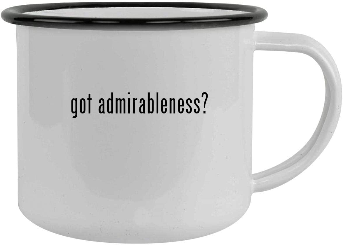 got admirableness? - 12oz Camping Mug Stainless Steel, Black