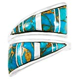 Turquoise Ring Sterling Silver (Pick Color)