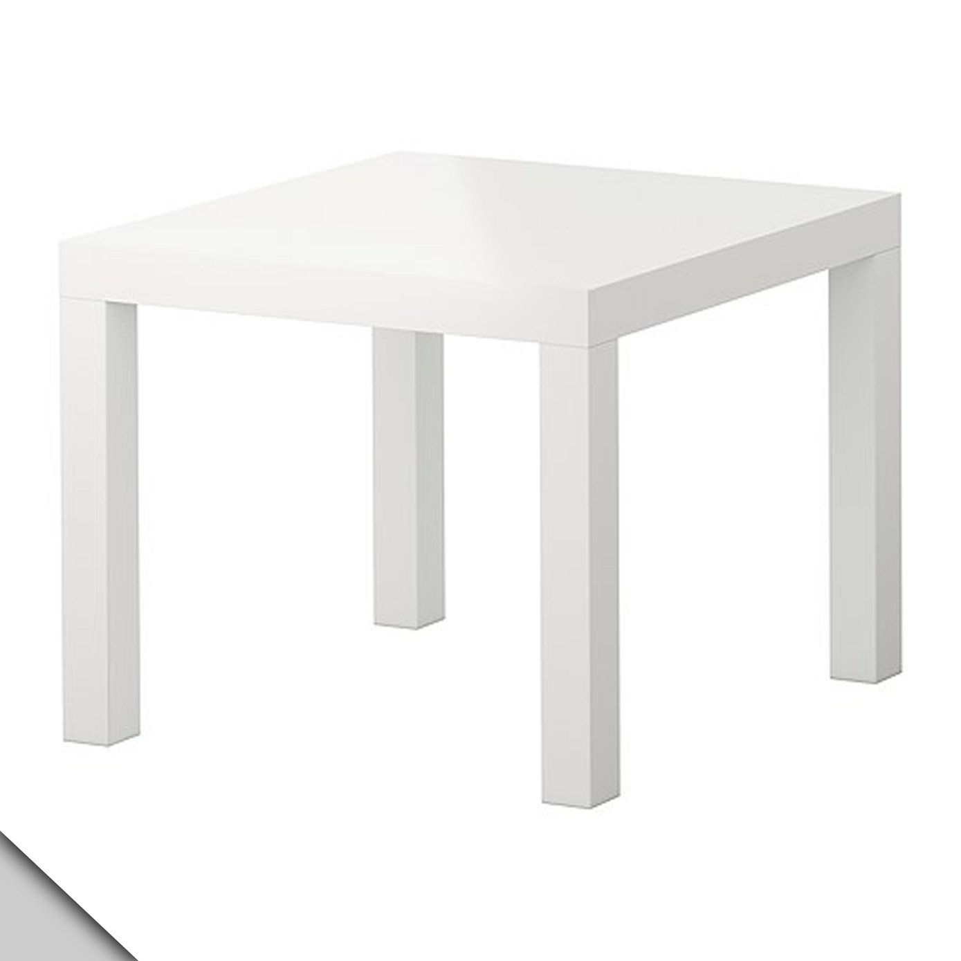 amazon com ikea lack side table high gloss white x2 kitchen
