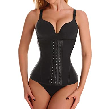 28e95e0fd8 Waist Trainer Corset for Women Latex Long Torso Waist Training Cincher 9  Steel Boned Underbust Body