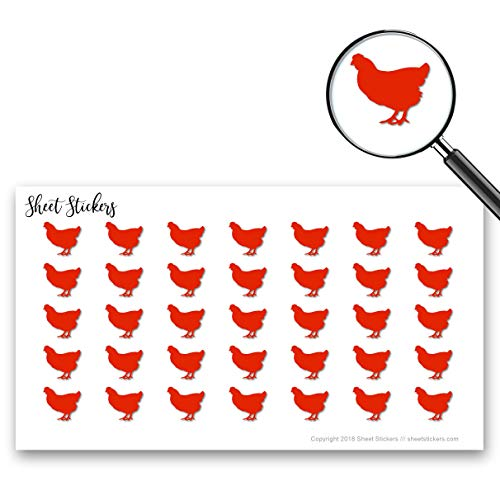 Hen Sticker - Hen Chicken, Sticker Sheet 88 Bullet Stickers for Journal Planner Scrapbooks Bujo and Crafts, Item 1321134