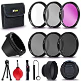 Xtech 55mm PRO Lens Accessories Kit w/ (UV FLD CPL), ND Filters, Lens Hoods for Nikon D3400 D5600 Alpha Series A99 A77 A58 A57 A65 A55 A 390 A100 A33 A900 A850 A700 A500 A330 A300 A230
