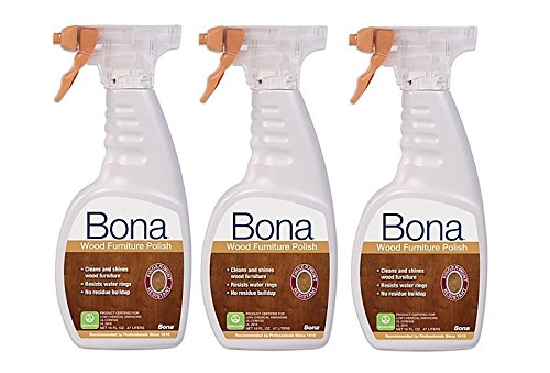 BONA KEMI USA WP650052001 Shine & Polish Clean Your Wood Furniture, 16 oz (3)