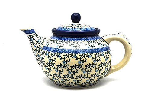 Polish Pottery Teapot - 1 1/4 qt. - Terrace Vines