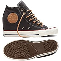 Converse Womens Lux Mid Top Wedge Skateboarding Shoes