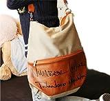 Cool2day School Style vintage Antique canvas Casual handbag Tote shopper Shoulder bag Backpack B010030 (Cream/Brown), Bags Central