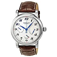Montblanc Star Retrograde Beige Guilloche Dial Automatic Mens Watch 106462 by Montblanc