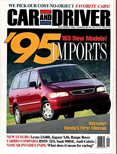 CAR AND DRIVER MAGAZINE NOVEMBER 1994