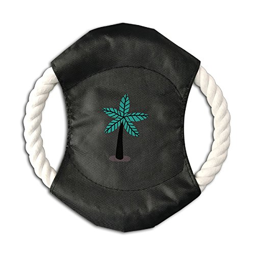 Mushanxiang Coconut Tree Pet Frisbee Cotton Rope Canvas Dog Anti-bite Throwing Discs Outdoor Training Toy Rope Ring