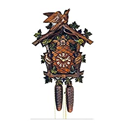 Cuckoo Clock - 1-Day Traditional with Birds & Berries - Schneider
