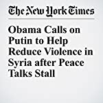 Obama Calls on Putin to Help Reduce Violence in Syria after Peace Talks Stall | Michael D. Shear,Nick Cumming Bruce