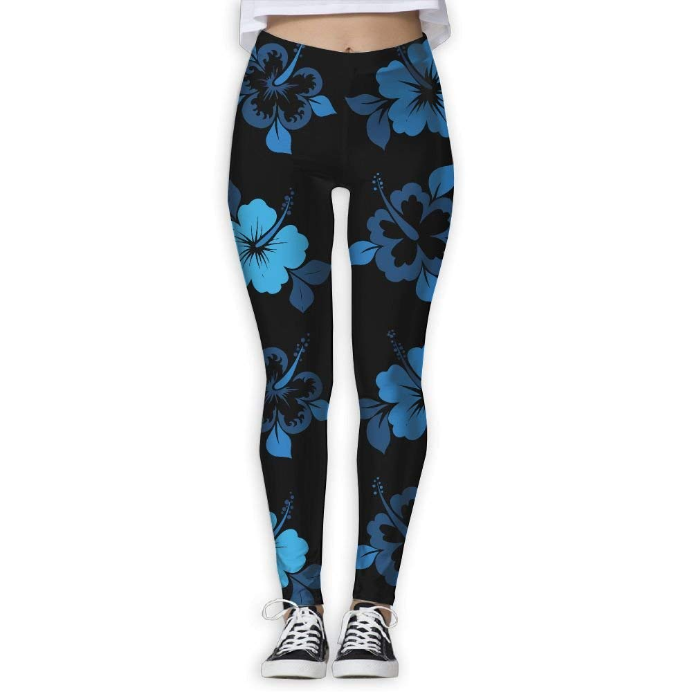 84e9b295fe Amazon.com  Blue Hibiscus Womens Full-Length Sports Running Yoga Workout Leggings  Pants Stretchable  Clothing