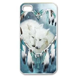 GGMMXO Wolf Dream Catcher Shell Phone Case For Iphone 4/4s [Pattern-1]