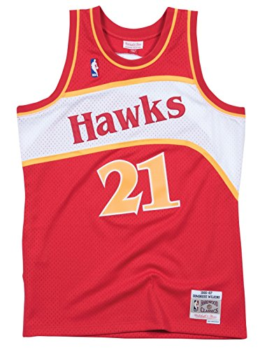 Dominique Wilkins Atlanta Hawks Mitchell & Ness NBA Throwback Jersey - Red
